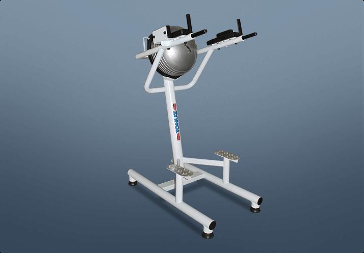 Paralela para tríceps e abdominal com encosto meia bola